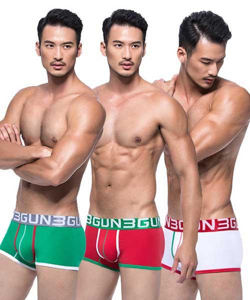 炫色動感                           耶誕派對男平口褲