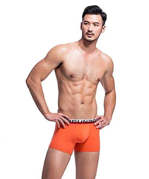 棉感                             雙色織帶男平口褲