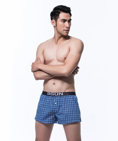 都會布褲                           男外露帶平口褲