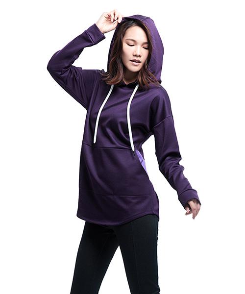 YA系列-享動時尚                      女格絨連帽長袖衫
