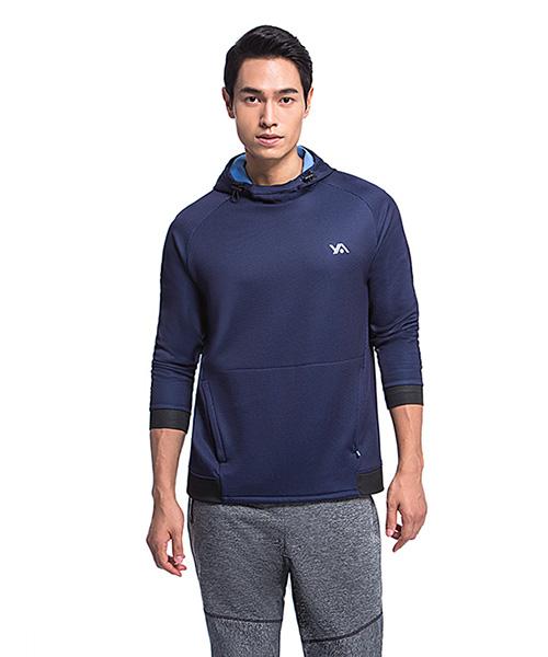 YA系列-享動時尚                      男格絨連帽長袖衫