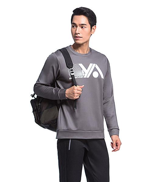YA系列-享動時尚                      男格絨圓領長袖衫