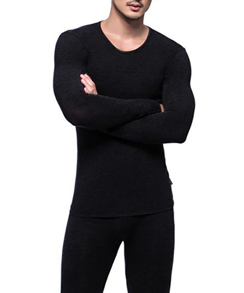 勁熱衣                            科技羊毛男保暖圓領長袖衫
