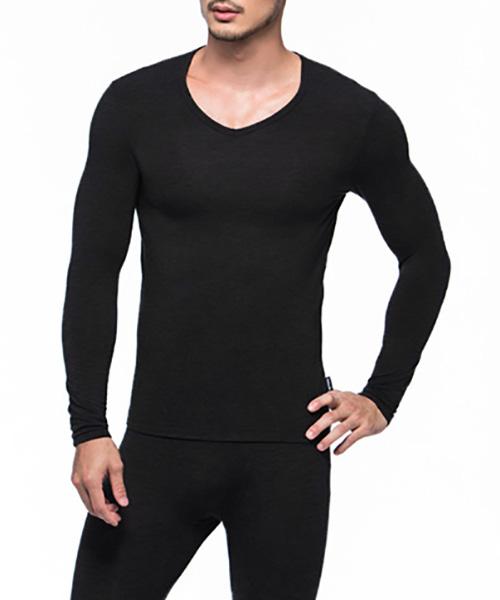 3GunSitename-勁熱衣-科技羊毛男保暖V領長袖衫