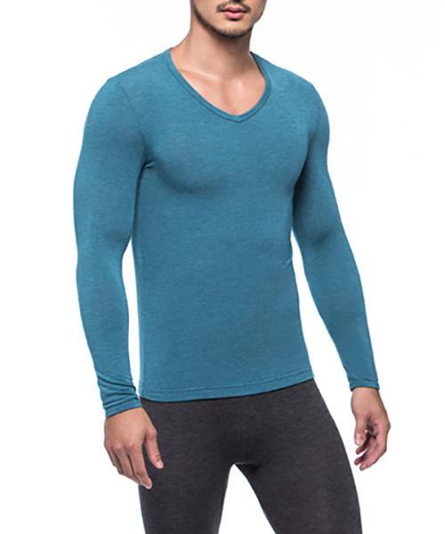 勁熱衣                            科技羊毛男保暖V領長袖衫
