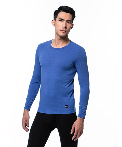 男圓領發熱長袖-熾柔-3GUN |男性時尚內衣褲MIT品牌