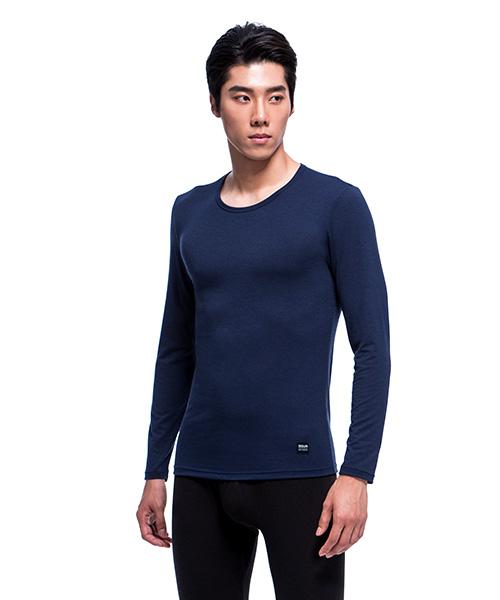 3GunSitename-熾柔EX-真正發熱男保暖圓領長袖衫