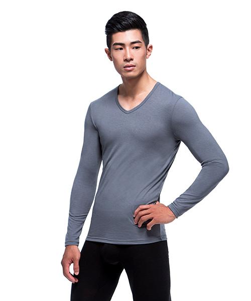 熾柔EX                           真正發熱男保暖V領長袖衫