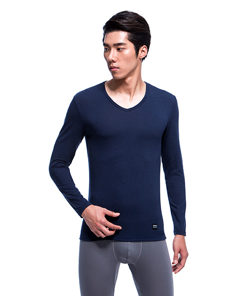 3GunSitename-熾柔EX-真正發熱男保暖V領長袖衫