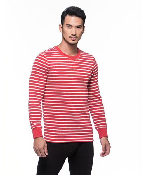 磨毛棉柔男圓領長袖衫-FREEWEAR-3GUN |男性時尚內衣褲MIT品牌