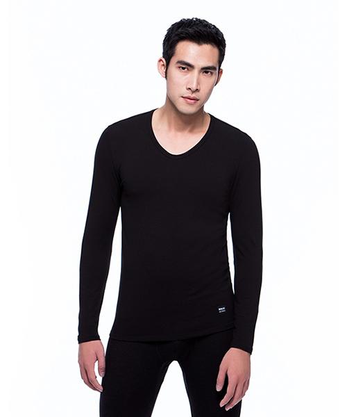 柔軟透氣男彈力棉V領長袖-棉感-3GUN |男性時尚內衣褲MIT品牌