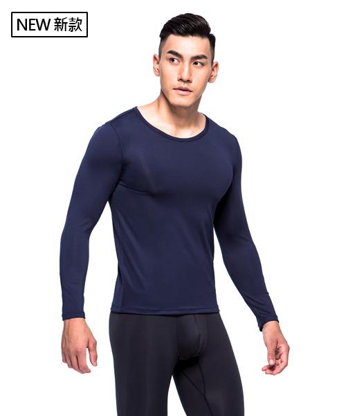 X熱力學男保暖圓領長袖衫-熾柔X-3GUN |男性時尚內衣褲MIT品牌
