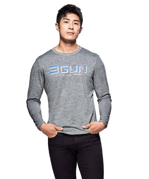 極速快乾男防臭印花長袖T-機動棉-3GUN |男性時尚內衣褲MIT品牌