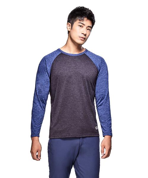 極速快乾男防臭配色連袖T-機動棉-3GUN |男性時尚內衣褲MIT品牌