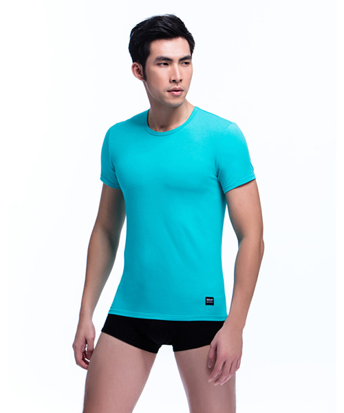 男圓領短袖-親膚-3GUN |男性時尚內衣褲MIT品牌