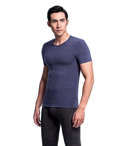 勁熱衣                            科技羊毛男保暖圓領短袖衫