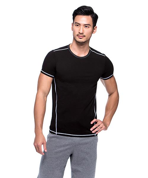 男圓領短袖衫-親膚-3GUN |男性時尚內衣褲MIT品牌