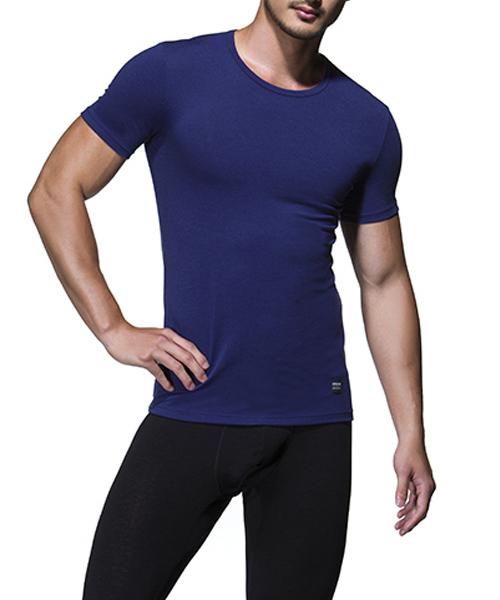 男圓領短袖發熱衫-熾柔-3GUN |男性時尚內衣褲MIT品牌