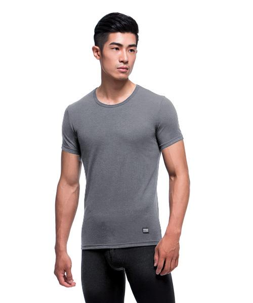 真正發熱男保暖圓領短袖衫-熾柔EX-3GUN |男性時尚內衣褲MIT品牌