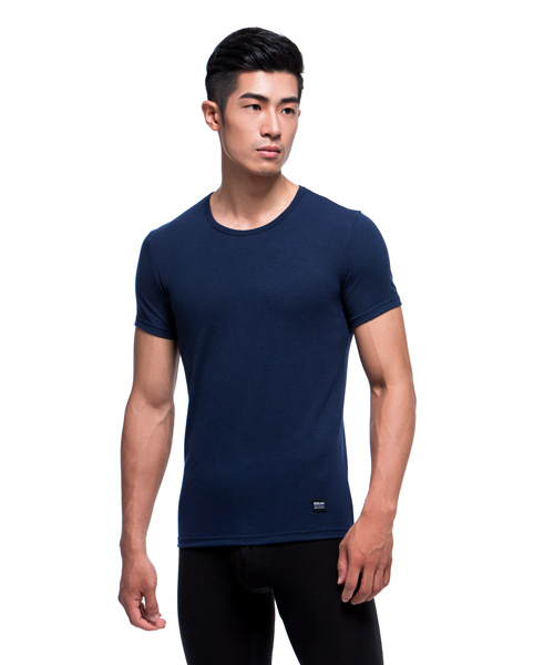 3GunSitename-熾柔EX-真正發熱男保暖圓領短袖衫