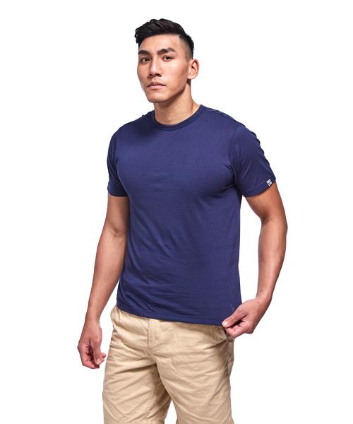 百搭純棉男圓領短袖T恤-FREEWEAR-3GUN |男性時尚內衣褲MIT品牌