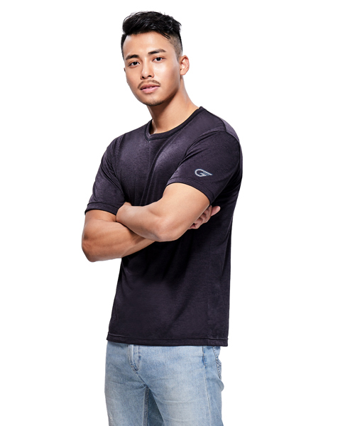 極速快乾男防臭圓領短袖T-機動棉-3GUN |男性時尚內衣褲MIT品牌