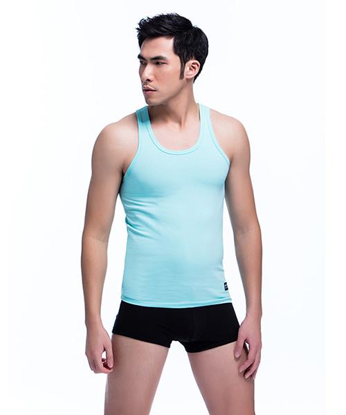 3GunSitename-棉感-柔軟透氣男彈力棉窄肩背心