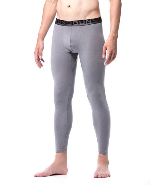 男外露帶發熱長褲-熾柔-3GUN  男性時尚內衣褲MIT品牌