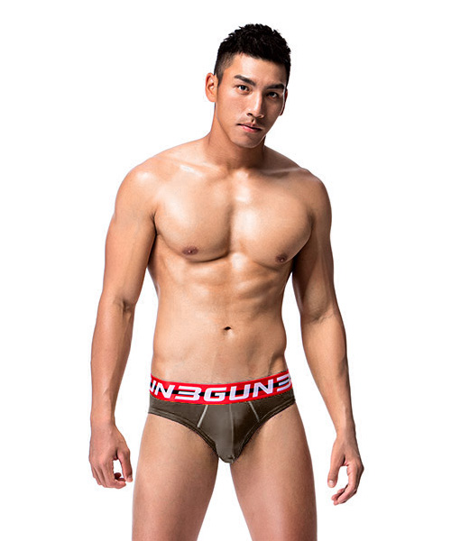 3GunSitename-棉感-柔軟透氣男彈力棉三角褲