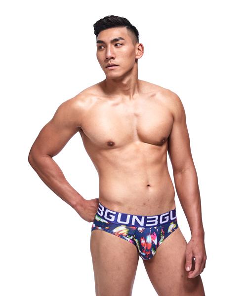 炫彩男永效吸排三角褲-限量印花-3GUN |男性時尚內衣褲MIT品牌