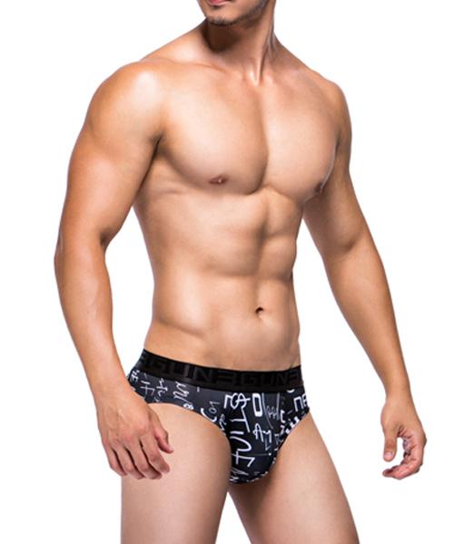 心情文字男永效吸排三角褲-限量印花-3GUN |男性時尚內衣褲MIT品牌