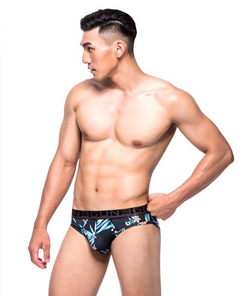 繁花苑男永效吸排三角褲-限量印花-3GUN |男性時尚內衣褲MIT品牌