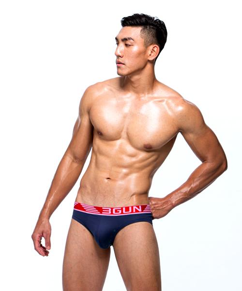制菌網眼男永效吸排三角褲-天翼.王鍺-3GUN |男性時尚內衣褲MIT品牌