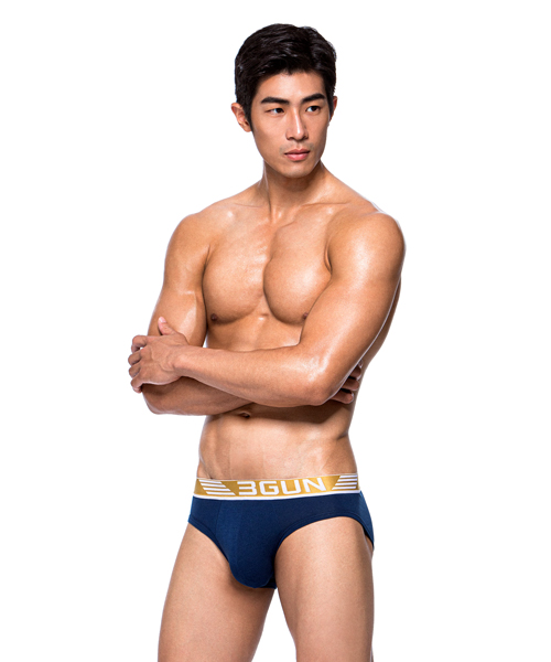 制菌網眼男SUPIMA棉三角褲-天翼.王鍺-3GUN |男性時尚內衣褲MIT品牌