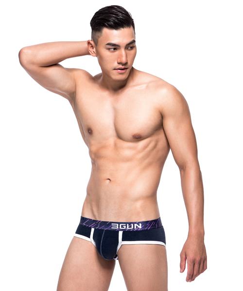 低腰光芒男SUPIMA棉三角褲-ENLARGE-3GUN |男性時尚內衣褲MIT品牌