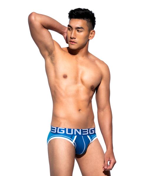爬線聚焦男彈力棉三角褲-炫色動感-3GUN |男性時尚內衣褲MIT品牌