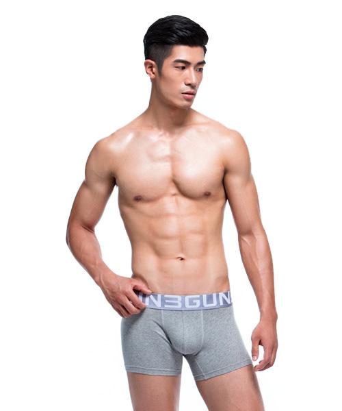 棉感                             柔軟透氣男彈力棉平口褲