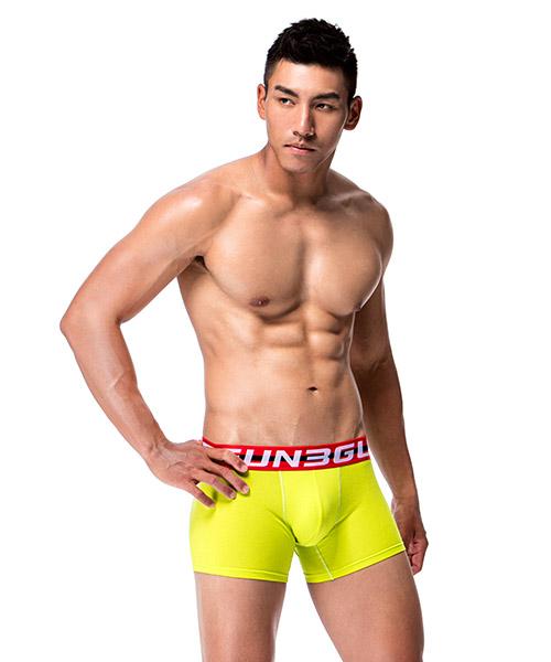 3GunSitename-棉感-柔軟透氣男彈力棉平口褲