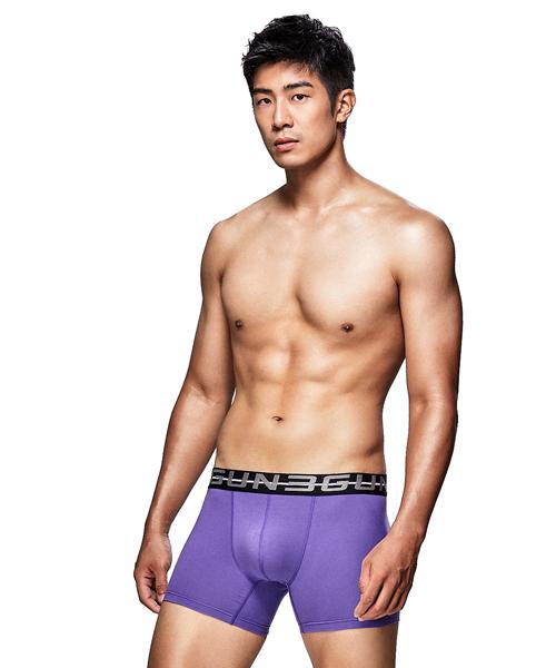 柔軟透氣男彈力棉平口褲-棉選-3GUN |男性時尚內衣褲MIT品牌