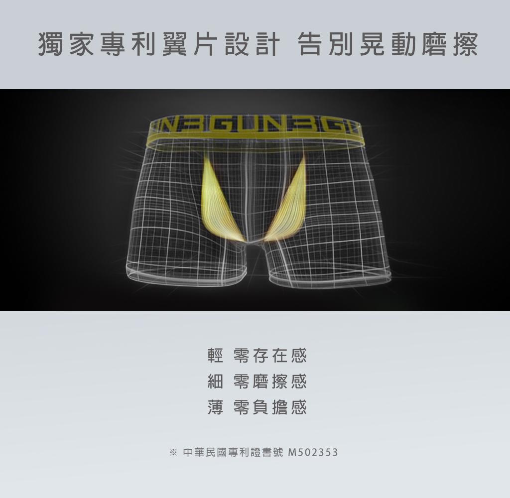 3GUN |男性時尚內衣褲MIT品牌-天翼‧能鍺-莫代爾棉男平口褲