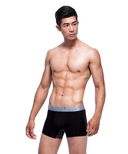 3GunSitename-天翼‧能鍺AIR-透氣網眼男彈力棉平口褲