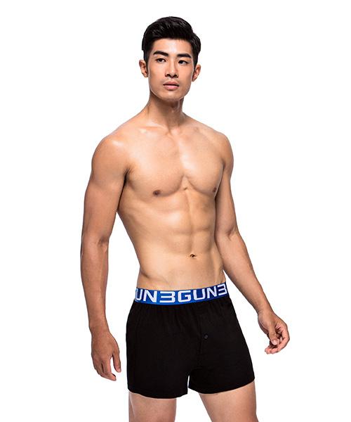 彈力棉男寬鬆四角平口褲-都會布褲-3GUN |男性時尚內衣褲MIT品牌