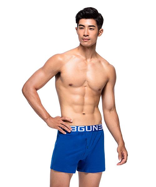 3GunSitename-都會布褲-彈力棉男針織四角平口褲