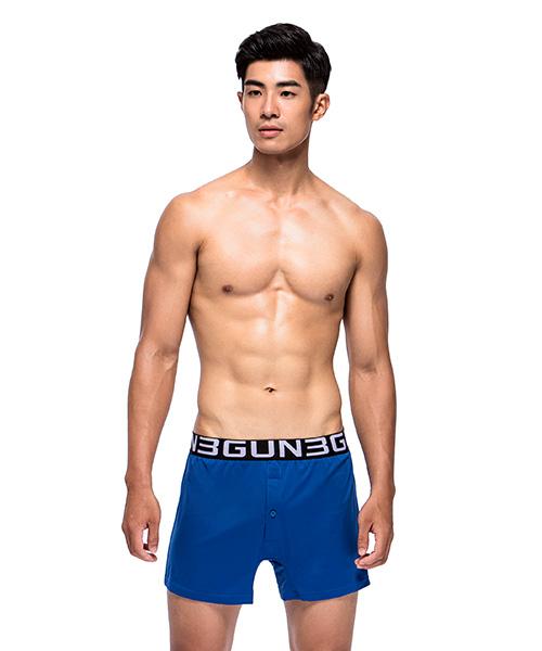 3GunSitename-都會布褲-永效吸排男針織四角平口褲
