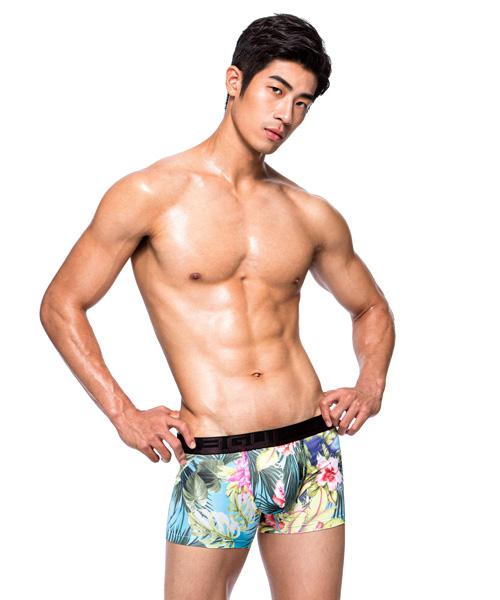 3GUN |男性時尚內衣褲MIT品牌-限量印花-熱帶花園男永效吸排平口褲