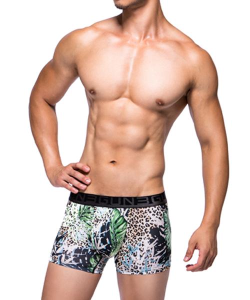 野獸叢林男永效吸排平口褲-限量印花-3GUN |男性時尚內衣褲MIT品牌