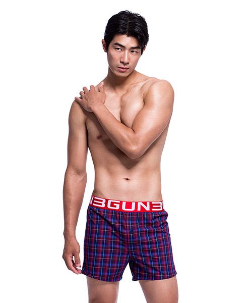 3GunSitename-都會布褲-舒適純棉男平織四角平口褲