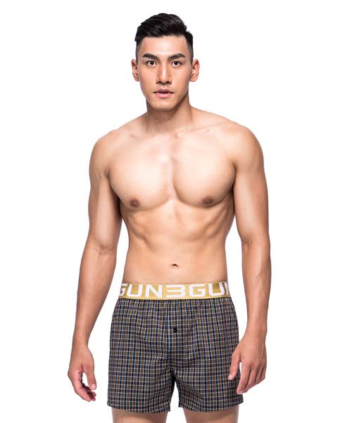 舒適純棉男寬鬆四角平口褲-都會布褲-3GUN |男性時尚內衣褲MIT品牌