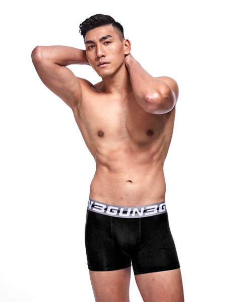 3GunSitename-親膚-極細柔滑男莫代爾平口褲