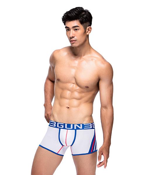 爬線網眼男真快乾平口褲-炫色動感-3GUN |男性時尚內衣褲MIT品牌